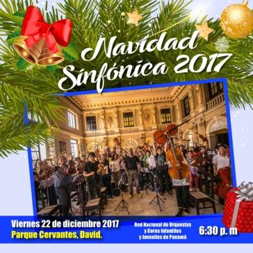 Invitación Navidad Sinfónica Chiriquí