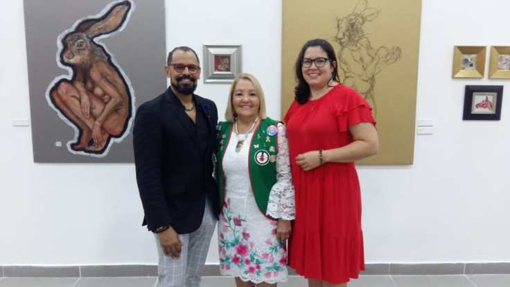 Reinier Rodriguez, Vanesa de Cruz y Alessandra Rosas